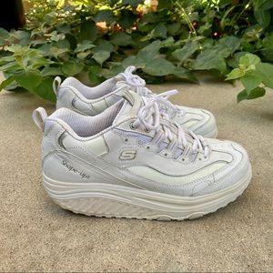 [Skechers] Shape Ups White Walking Sneakers